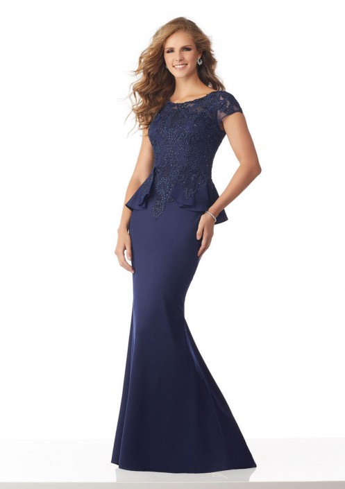 MGNY by Morilee 71836 Mother of the Bride Peplum Gown: French Novelty