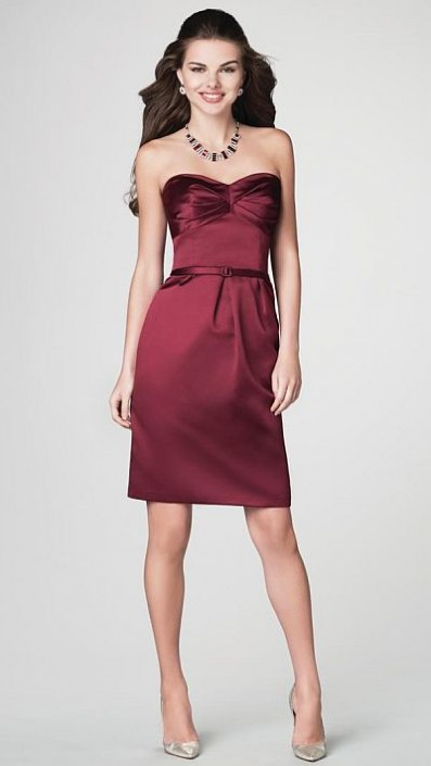 2012 Bridesmaid Dresses Alfred Angelo Short Dress 7200: French Novelty