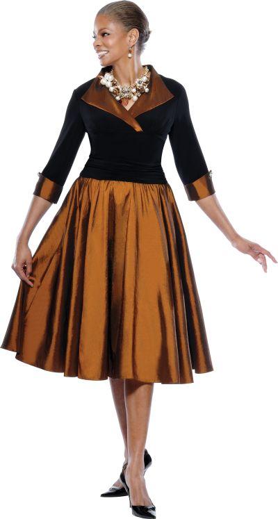 Terramina 7228 Womens Church Dress: French Novelty