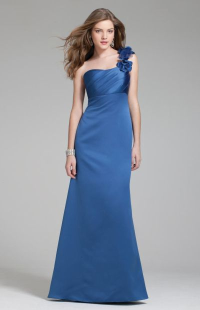e23d4e907db Size 10 Indigo Alfred Angelo 7230 Long Bridesmaid Dress: French Novelty