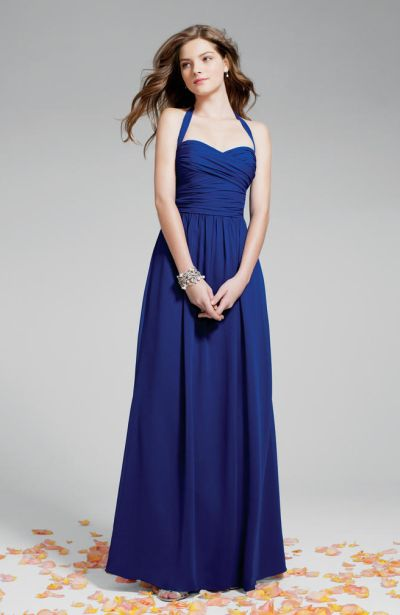 Alfred Angelo 7236 Halter Bridesmaid Gown French Novelty