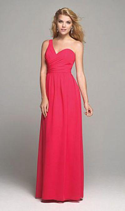 Alfred Angelo 7257l One Shoulder Long Bridesmaid Dress