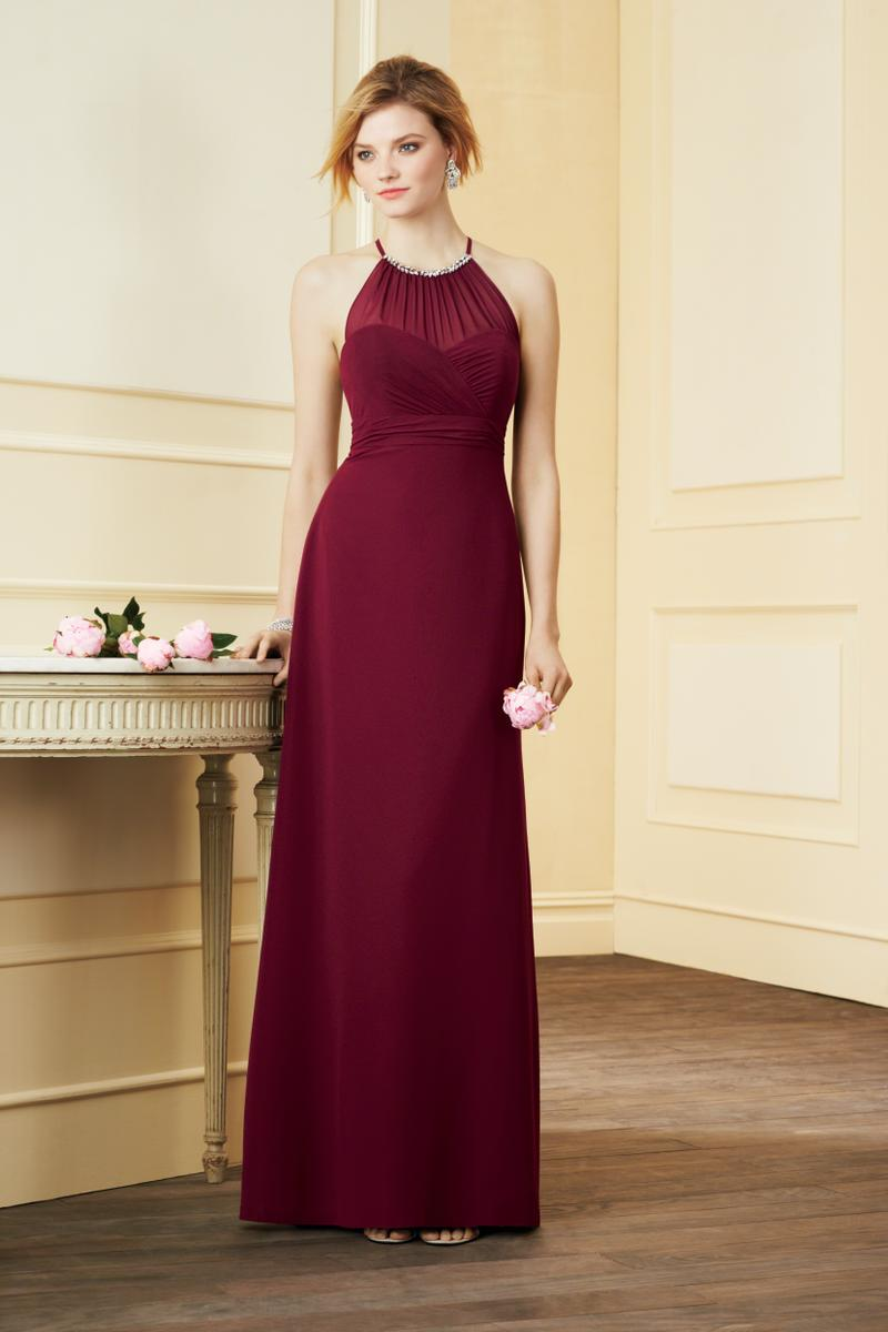 Alfred Angelo 7290L Halter Long Bridesmaid Dress French Novelty