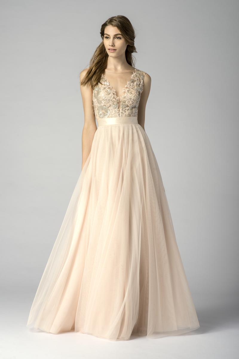 Watters 7319i sequin lace bridesmaid gown french novelty for Watters wtoo wedding dresses