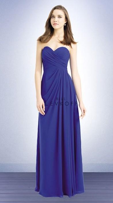a0fbe2f1eb Bill Levkoff 732 Criss Cross Long Bridesmaid Dress  French Novelty