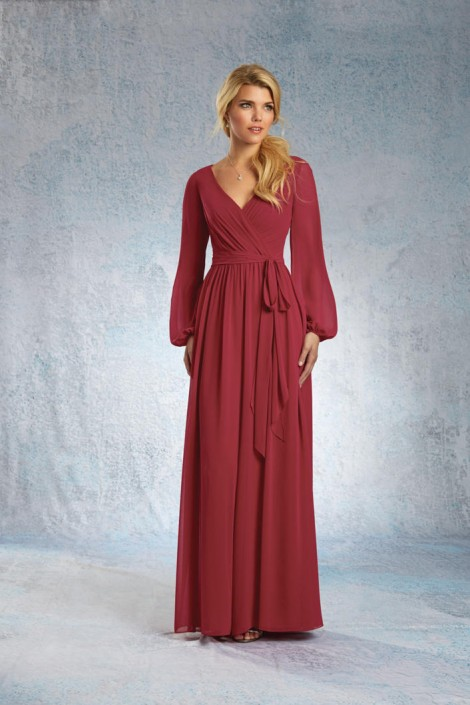 Alfred Angelo 7325 Chiffon Bridesmaid Jumpsuit: French Novelty