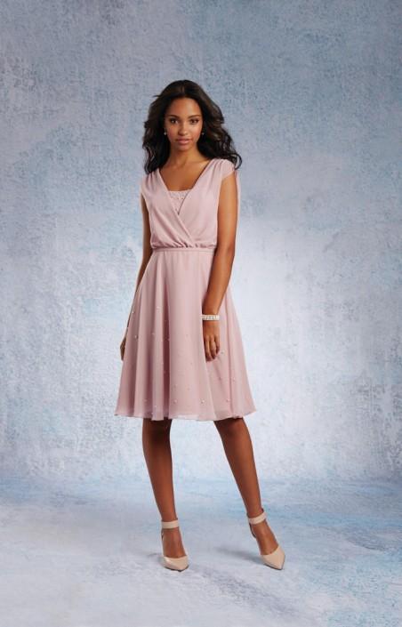 Short Blush Bridesmaid Dresses