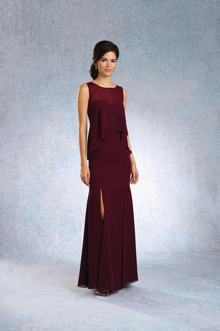 Size 8 Mahogany Alfred Angelo 7341l Long Bridesmaid Dress
