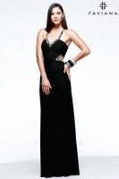 Faviana 7348 Evening Dress with Cutouts image