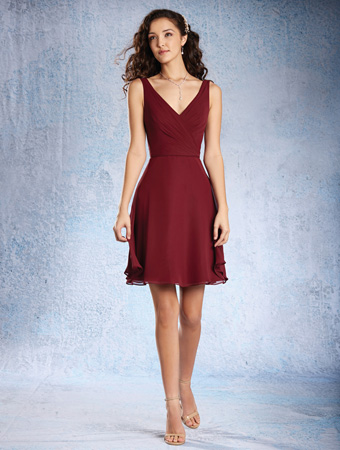 Red Bridesmaid Dresses Alfred Angelo