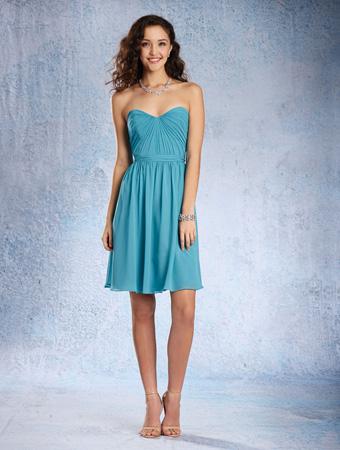 1604c84e176f9 Alfred Angelo 7361S Draped Short Bridesmaid Dress: French Novelty