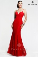 Faviana 7362 Elegant Chiffon Gown with Godets image