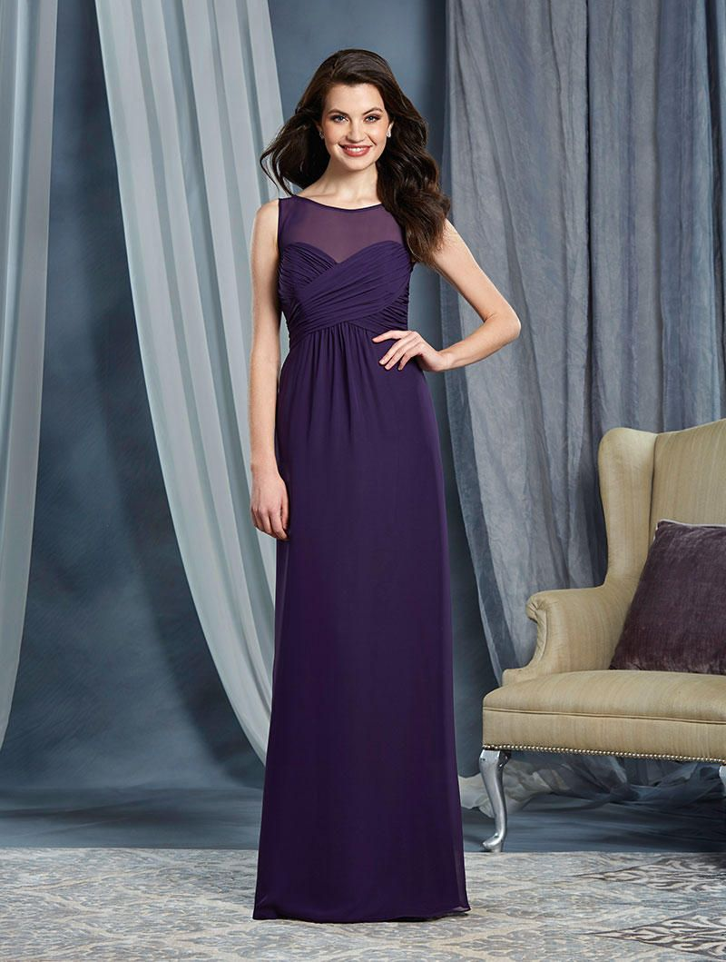 alfred angelo 7362l draped chiffon bridesmaid gown