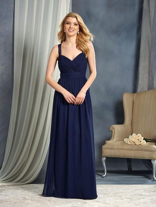 Alfred Angelo 7364l Sheer Straps Long Bridesmaid Dress