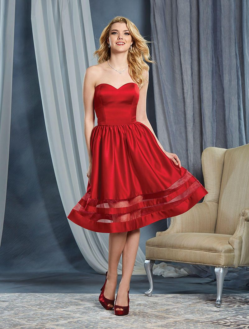 Alfred angelo 7368s short satin bridesmaid dress french novelty ombrellifo Image collections