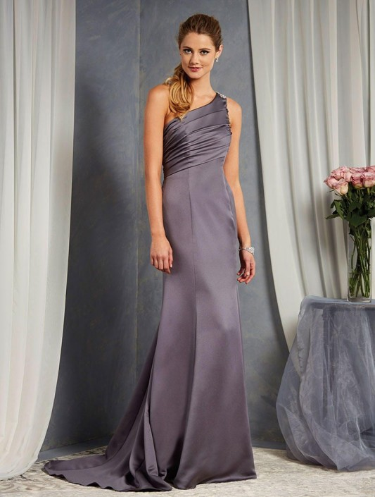 14396246a96 Alfred Angelo 7379L Long One Shoulder Bridesmaid Dress  French Novelty