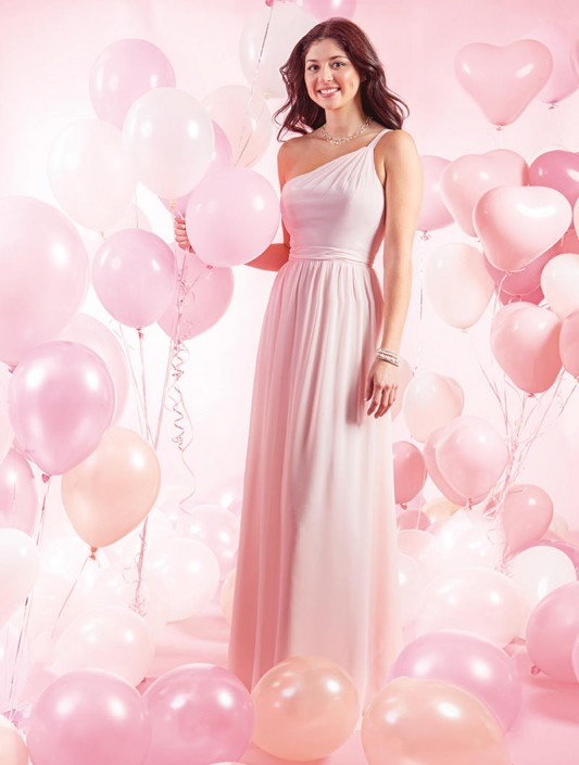 Alfred Angelo 7388L One Shoulder Long Bridesmaid Dress