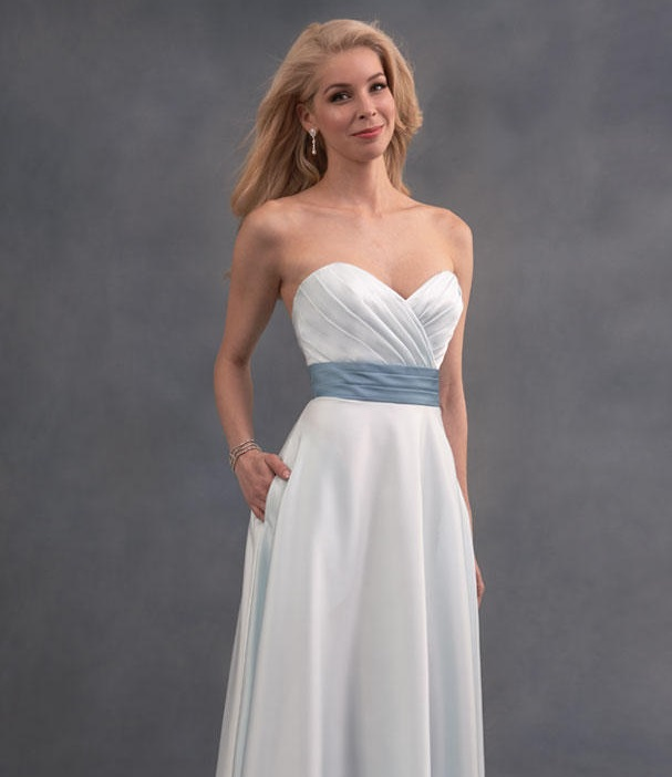 Alfred Angelo 7391S Two Tone Short Bridesmaid Dress