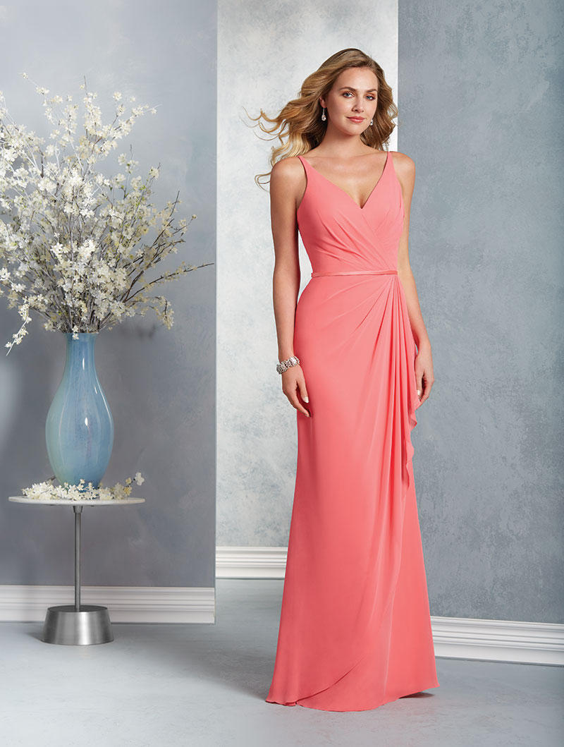 Alfred angelo 7403 draped chiffon bridesmaid dress french novelty ombrellifo Images