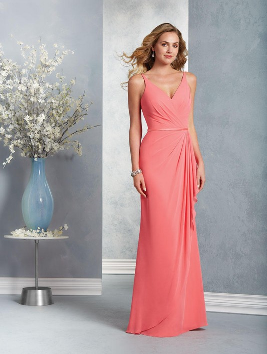 Alfred Angelo 7403 Draped Chiffon Bridesmaid Dress: French Novelty