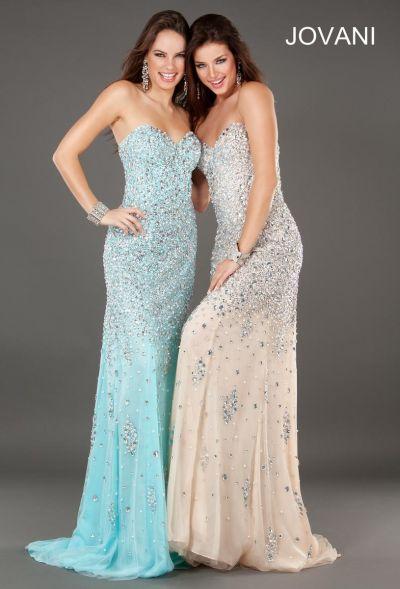 Jovani 7441 Beaded Formal Dress: French Novelty