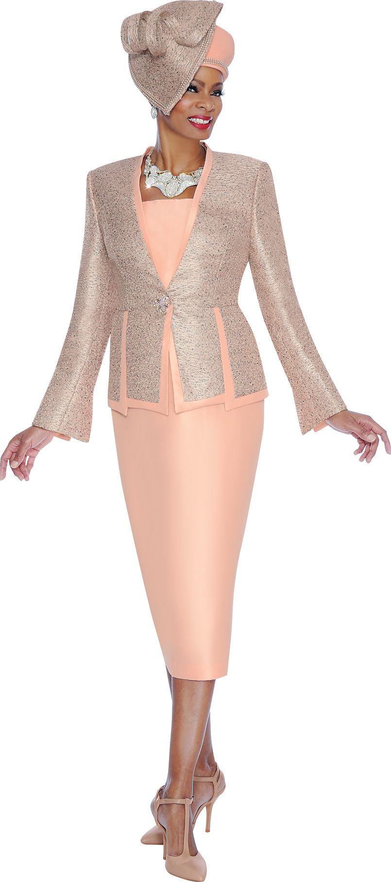 Terramina 7443 Womens Unique Church Suit: French Novelty