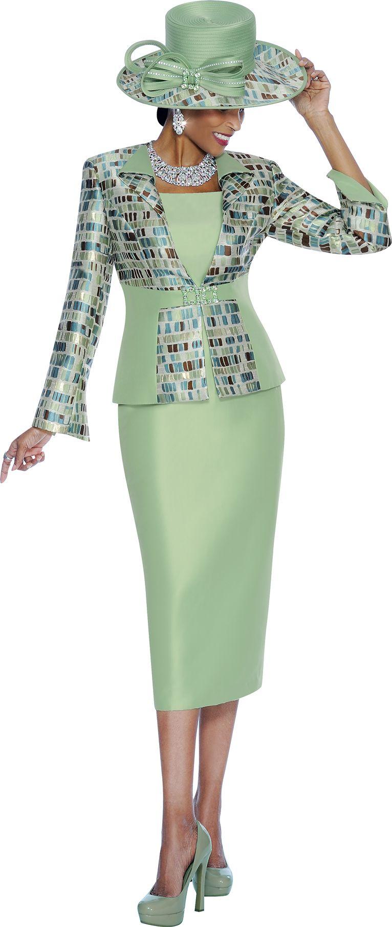 Terramina 7444 Church Dress with Jacket - French Novelty