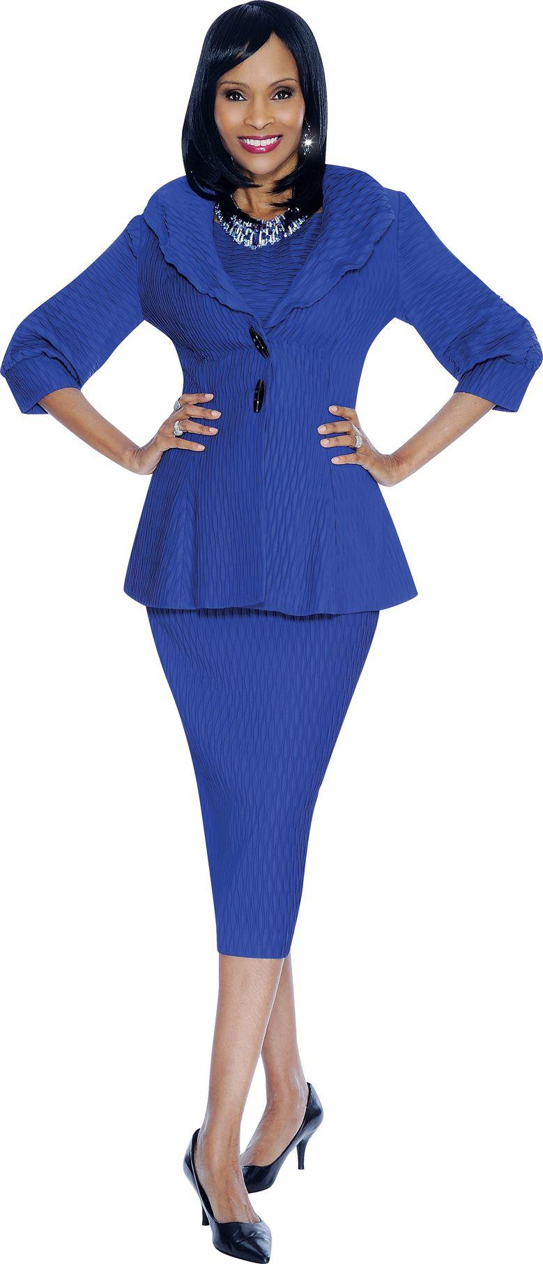 Terramina 7462 Womens 3pc Church Suit French Novelty