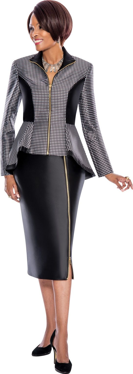707c0ba188 Terramina 7496 Womens Hi-Low Church Suit  French Novelty