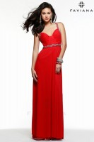 Faviana 7513 Gown with Beaded Straps image