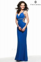 Faviana 7518 Beaded Chiffon Evening Dress image