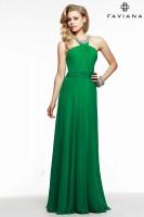 Faviana 7520 Jewel Neck Evening Dress image