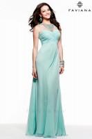 Faviana 7521 Illusion Jewel Neck Gown image