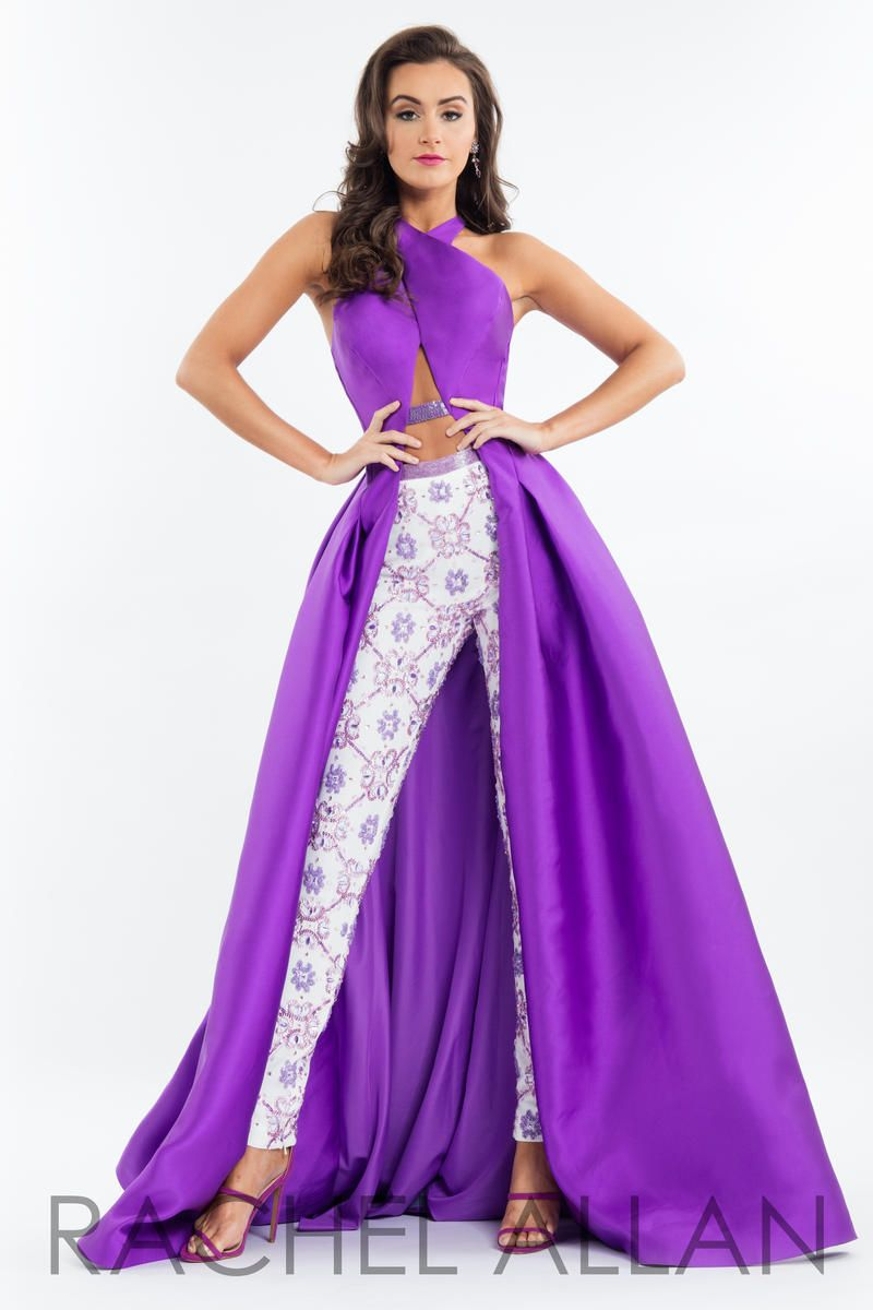 Rachel Allan 7522 Prom Gown With Pants French Novelty