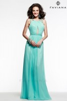 Faviana 7523 Gown with Sheer Cut Outs image