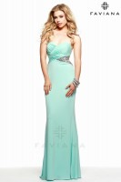Faviana 7525 Jersey Gown with Cut Outs image