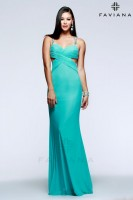 Faviana 7528 Gown with Cut Outs image