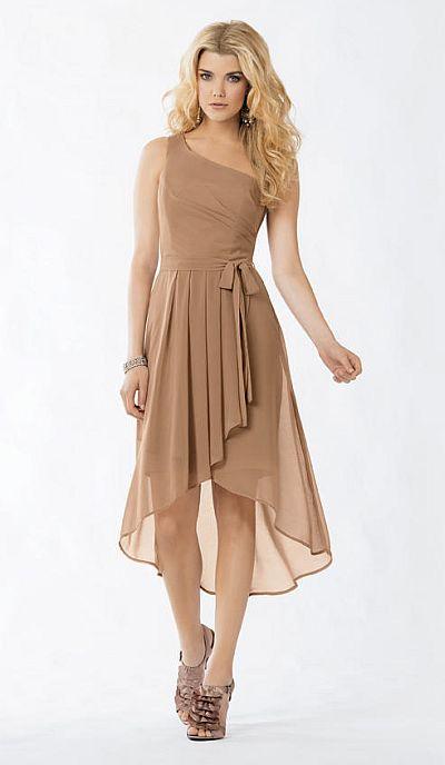 Jordan 753 Short High Low Bridesmaid Dress