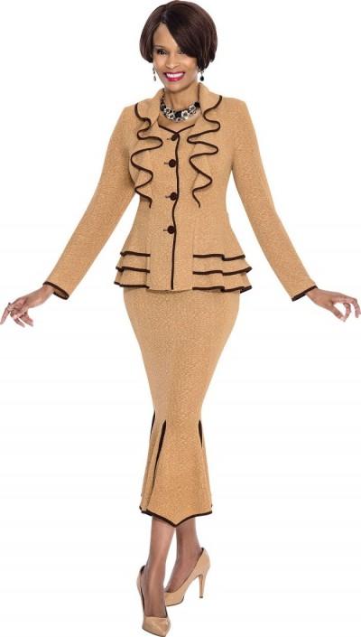 3937245e09 Terramina 7533 Womens Church Suit with Ruffles  French Novelty