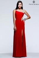 Faviana 7545 Beaded Illusion Evening Dress image