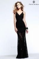 Faviana 7547 Lace Evening Dress image