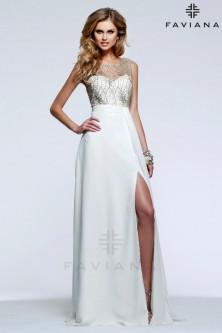 Ivory Evening Dresses: French Novelty