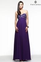 Faviana 7553 Beaded Chiffon Evening Dress image