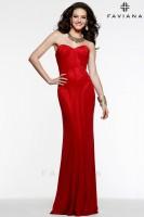 Faviana 7565 Glitter Jersey Formal Dress image