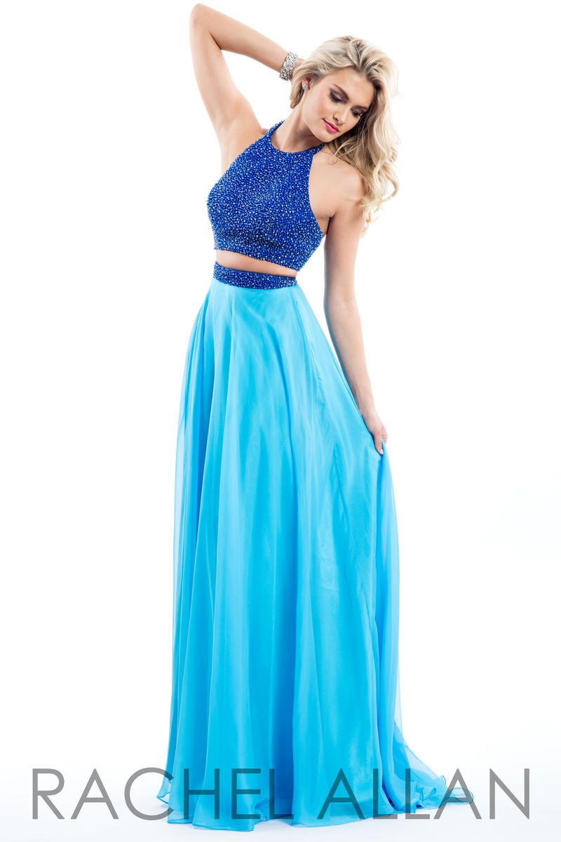 Rachel allan 7566 beaded chiffon 2pc prom gown french novelty for Pc mary s wedding dress