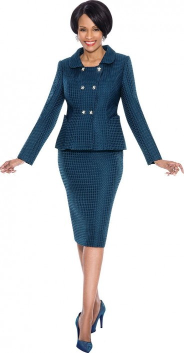 Terramina 7572 Womens Double Breasted Suit French Novelty