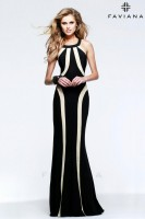 Faviana 7573 Scoop Neck Jersey Gown image