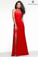 Faviana 7583 Illusion Chiffon Formal Dress image