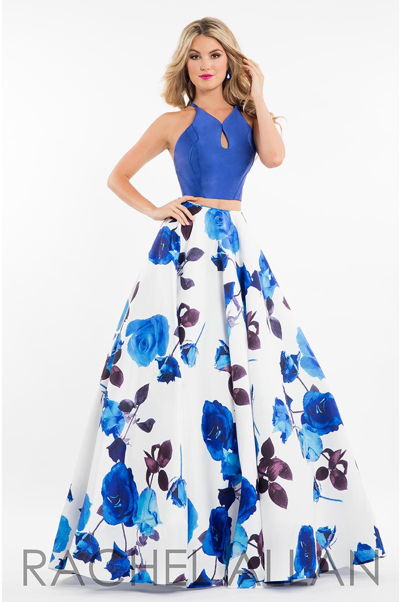 rachel allan 7583 floral 2 piece prom dress french novelty