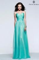 Faviana 7584 Sweetheart Chiffon Evening Dress image